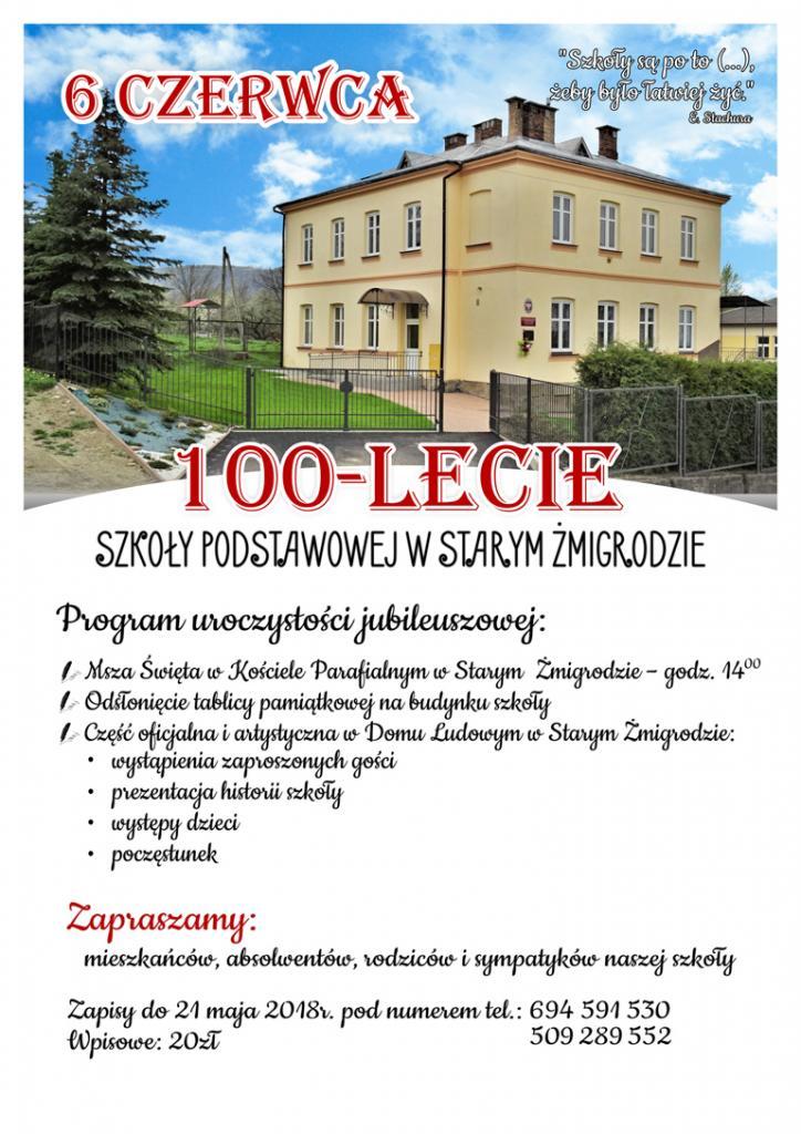 100 lecie szkoły